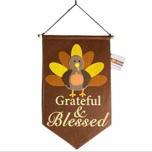 🍁 Wall Decor Hanging Grateful & Blessed Turkey